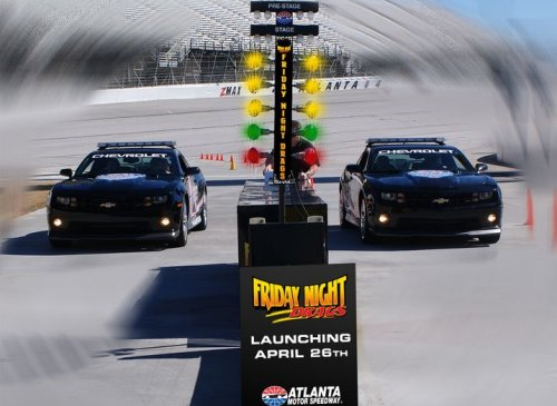Friday night drags to feature christmas tree starting light for Atlanta motor speedway light show