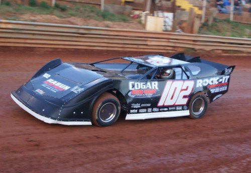 Clayton Turner, seen here from earlier action, scored the Limited Late Model victory Saturday night at Toccoa Speedway.  Photo by T. Spackman