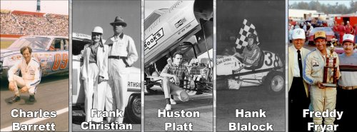 The Georgia Racing Hall of Fame announced its Class of 2013 inductees on Saturday.  They include Charles Barrett, Frank Christian, Huston Platt, Hank Blalock, and Freddy Fryar.  Image courtesy GRHOF