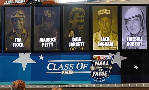 Tim Flock, Maurice Petty, Dale Jarrett, Jack Ingram and Fireball Roberts were announced as the members of the class of 2014 inductees into the NASCAR Hall of Fame.  John Harrelson/NASCAR via Getty Images