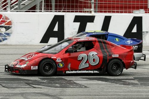Chandler Smith (26) and Zach Leonhardi split the Bandits features in the opening week of Thursday Thunder at Atlanta Motor Speedway with each driver finishing first and second in both races. Photo by Tom Francisco/Speedpics.net