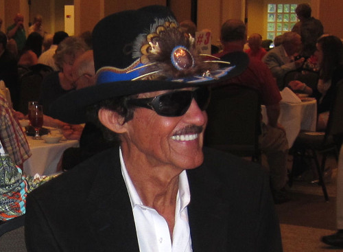 """Richard Petty smiles for a photo during the Aug. 30 """"Taste Of History"""" event for the Northeast Georgia History Center in Gainesville, GA.  Petty took the time for an interview for this week's Raceweek Illustrated Television, which is now available to view online.  Photo by Fred Simmons"""
