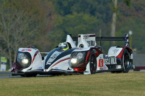 Klaus Graf and Lucas Luhr powered Muscle Milk Racing to its eighth straight ALMS victory at Virginia International Raceway Saturday afternoon.  Photo by Dan R. Boyd/ALMS
