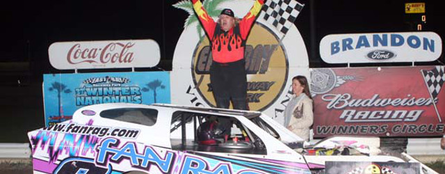 Roger Crouse moved out front on lap 50 of the Gagel's Open Wheel Modified feature at East Bay Raceway Park in Tampa, FL Saturday night, and motored away to score […]