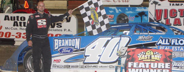 TAMPA, FL — Kyle Bronson powered to the lead, and went on to score his third Late Model feature victory of the year Saturday night at East Bay Raceway Park […]