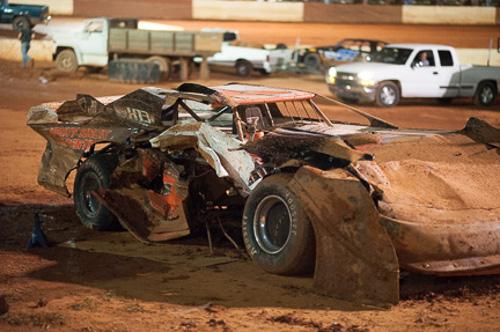 Battered Race Cars Bruised Egos At Senoia Raceway