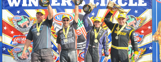 BROWNSBURG, IN – Alexis DeJoria made history on Monday as the fourth woman driver ever to win US Nationals, as the NHRA Mello Yello Drag Racing Series wrapped up their […]