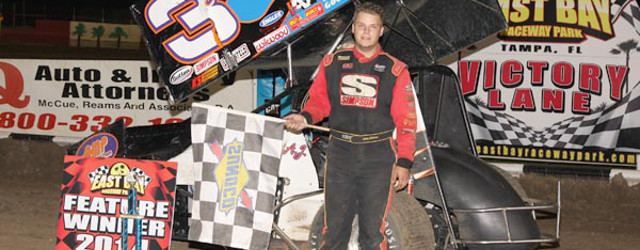 TAMPA, FL – A.J. Maddox took over on lap seven of the 20 lap East Bay Sprints feature Saturday night at East Bay Raceway Park in Tampa, FL and pulled […]