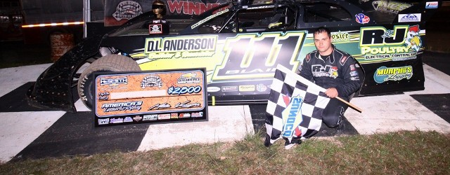 Max Blair of Centerville, PA had to outrun the competition and a leaking right-rear tire to win the 50-lap main event on Thursday night for the NeSmith Chevrolet Dirt Late […]