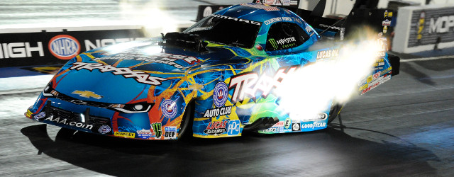 Courtney Force led a parade of track record performances by racing to the Funny Car qualifying lead Friday at the Mopar Mile-High NHRA Nationals at Bandimere Speedway. Steve Torrence (Top […]