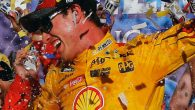 Joey Logano rallied from an early pit road gaffe to power his way to the front of the field at Talladega Superspeedway and beat out Brian Scott on a final […]