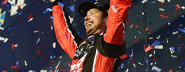 Kurt Busch survived a wild race to score his first-career Daytona 500 victory with a last lap pass over a sputtering Kyle Larson to put his Monster Energy-sponsored Ford in […]