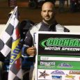 Kyle Bronson made the pass for the lead with four laps to go in Saturday night's NeSmith Dirt Late Model Series feature at Georgia's Cochran Motor Speedway, and went on […]